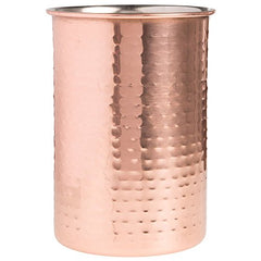 "Home Essentials Copper Hammered Utensils Crock Holder Large Capacity 7"" x 5"""