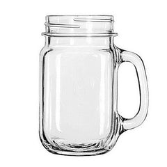Libbey Drinking Jar with Handle, 16 -Ounce, Set of 12