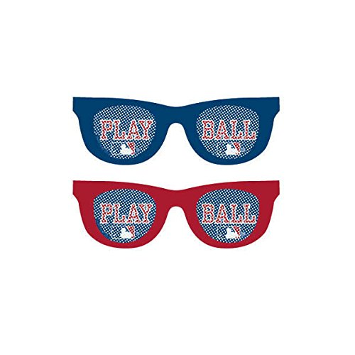"Amscan (251097) Baseball Dream Rawlings Printed Glasses Accessory Plastic 2"" x 6"" x 5""0 Party Supplies , 60 Pieces"