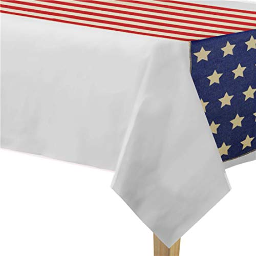 Amscan Party Supplies Patriotic Table Runner, Multicolor