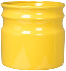 Home Essentials & Beyond 66381 7.5 D in. Turino Rings Utensil Crock - Yellow