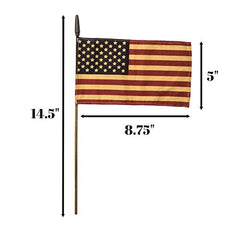 b8444eb2876d Set of 12 Bulk Primitive American Flags  8.75 x 5 Small Tea Stained American  Flags