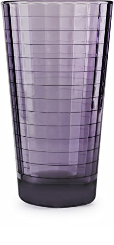 Circleware 44822 Plum Heavy Base Juice Drinking Glasses, Set of 4, Kitchen  Entertainment Ice Tea Beverage Cups Glassware for Water, Milk, Beer, ...