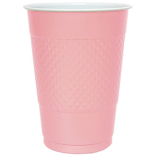 Hanna K. Signature Collection Plastic Cup, 50-Cup, 18-Ounce, Pink