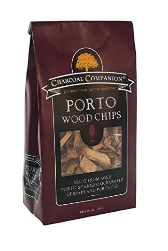 Charcoal Companion CC6061 Port Soaked Wood Chips, 88.5 Cubic Inch