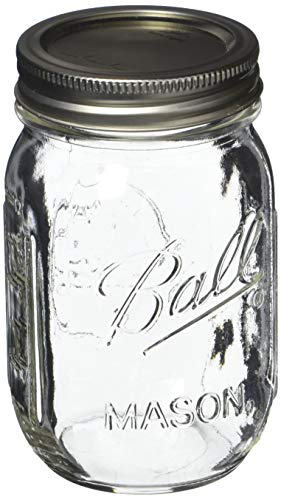 Ball Pint Mason Jar, Regular Mouth, 16 oz (3 Count)