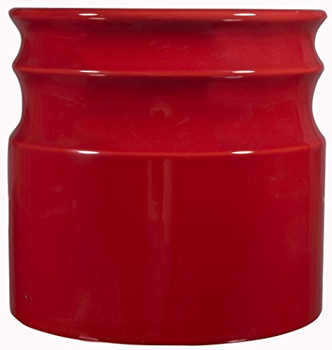 Home Essentials & Beyond 66379 7.5 D in. Turino Rings Utensil Crock - Red