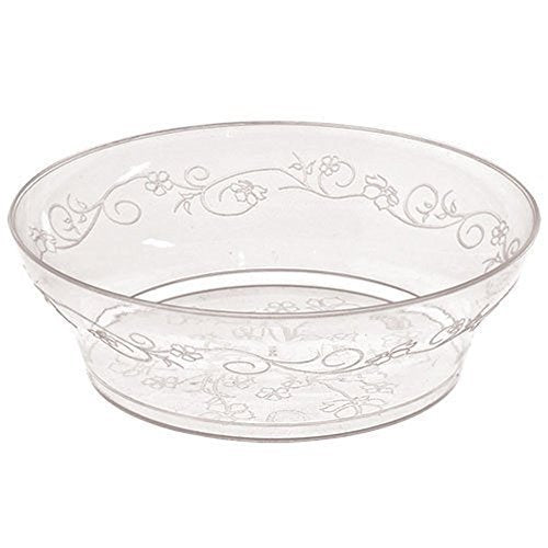 Hanna K. Signature Collection 40 Count D'Vine Bowl, 10-Ounce, Clear Plastic