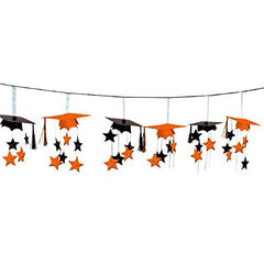 Amscan School Colors 3-D Foil Garland - Orange