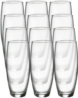 Luminarc Cachet 9-ounce Stemless Flute Glasses, 12 Pack