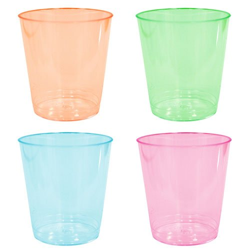 Party Dimensions Neon 60 Count Plastic Tumblers, 2-Ounce