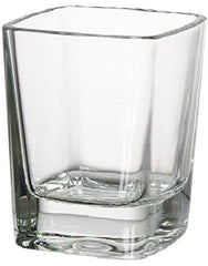Circleware 42701 Square Shot Glasses, Set of 6, Heavy Base Glassware Drinking Cups for Whiskey, Vodka, Brandy, Bourbon and Best Selling Liquor Beverage Bar Dining Decor Gifts 2.3 oz Clear