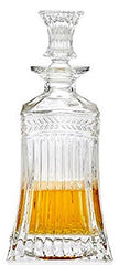 Circleware 10111 Empire Elegant Liquor Scotch Brandy Bourbon Wine Whiskey Decanter Best Gift Drink Beverage Dispenser Pitcher Carafe with Glass Stopper, 709ml. Clear