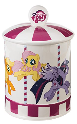 Vandor 42041 My Little Pony Ceramic Cookie Jar, Multicolored