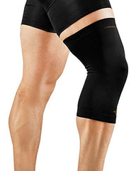 Tommie Copper Men's Recovery Refresh Knee Sleeve, Black, Medium
