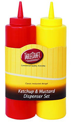 TableCraft 112KM Nostalgia 2-Piece Ketchup and Mustard Dispenser Set, 12-Ounce 2 PACK