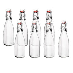 Bormioli Rocco Glass 8.5 Ounce Swing Top Bottle, Set of 8