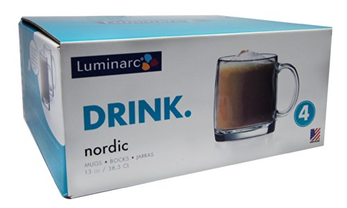 Arc International Luminarc Nordic Mug, 13-Ounce, Set of 4