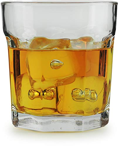 Circleware 10225 Heavy Base Whiskey Glass, Set of 4, Home & Kitchen Party Dining Entertainment Beverage Drinking Glassware Cups for Water, Juice, Beer Bar Liquor Decor, 10.4 oz