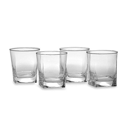 Home Essentials 10 Oz. Square-to-round Dual-cut Cut Drinking Glasses, Set of 8