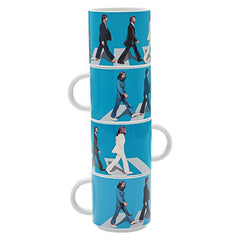Vandor The Beatles Abbey Road 4 Piece Ceramic Stacking Mug Set (72006)