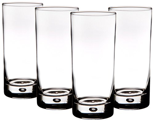 Home Essentials Red Series Bubble 17oz Highball Glass, Set of 4