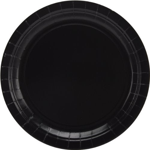 Big Party Pack Paper Dinner Plates 9-Inch, 50/Pkg, Black