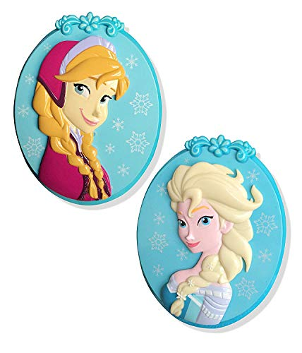 Frozen Elsa BocaClips by O2COOL, Beach Towel Holder, Clips, Set of two, Beach, Patio or Pool Accessories, Portable Towel Clips, Chip Clips, Secure Clips 2 Packs of 2 Elsa and 2 Anna = 4 Towel Clips