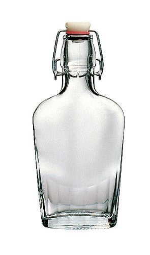 Bormioli Rocco Fiaschetta Glass 17 Ounce Pocket Flask, Set of 4