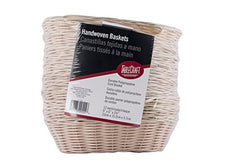 "TableCraft Products C1174W Basket, Oval, Natural, 9"" x 6"" x 2.25"" (Pack of 12)"