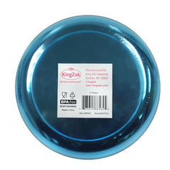 Hard Plastic Plates, 6-Inch Round, Party/Dessert Plates, Assorted Neon, Value Pack- 40 Count