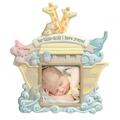 "Grasslands Road 3-Inch X 3-Inch Noah's Ark ""For This Child I Have Prayed"" Photo Frame"