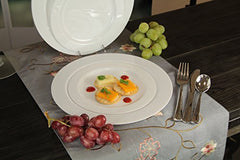 Premium Quality Heavyweight Plastic Plates China Like. Wedding and Party Dinnerware Plastic Plates 10.25 inch, White Pearl - Value Pack 30 Count