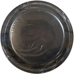 Hanna K. Signature Collection 50 Count Plastic Plate, 10-Inch, Black