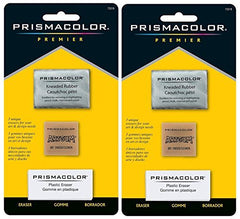 Sanford 2-PACK - Prismacolor Premier Eraser Set - Kneaded, ArtGum and Plastic Erasers, Set of 3