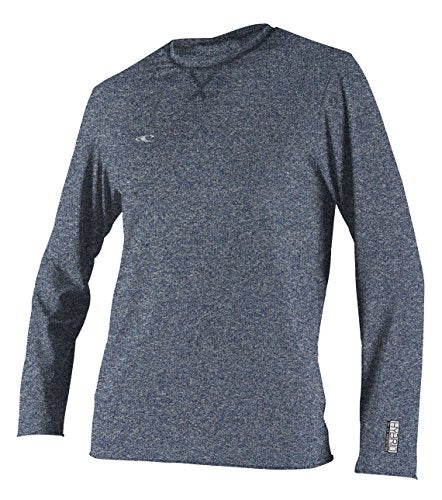 O'Neill Wetsuits Men's Basic Skins UPF 50+ Long Sleeve Sun Shirt, Hybrid Navy, Large