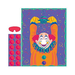 Amscan Party Game-Pin The Nose On The Clown