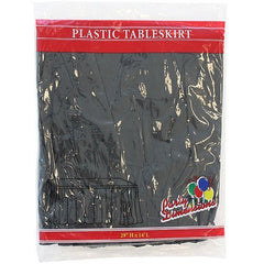 Plastic Table Skirts - 13 Colors- Pack of 2 Select Color: Black