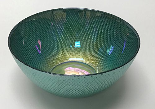 "Circleware 03121 Radiance Glass Serving Mixing Fruit Bowl Glassware for Salad, Punch, Beverage, Ice Cream, Dessert, Food and Best Selling Home & Kitchen Decor Gifts, 10"", Teal Luster"