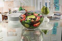 "Circleware 55643 Gala Glass Salad Bowl, 10"", Limited Edition Glassware Serveware Fruit, Dessert and Food Serving Dish"
