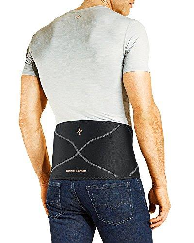 Tommie Copper Men's Back Brace, Small/Medium, Black