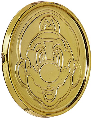 "Amscan Super Mario Brothers Birthday Party Coins Favors (24 Pack), 1 3/8"" x 1/8"", Gold"