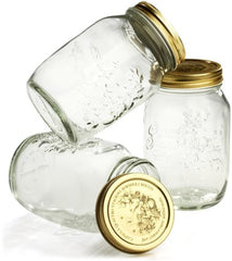 Bormioli Rocco Quattro Stagioni 33.75 oz. Canning Jar Set of 3, Gift Boxed
