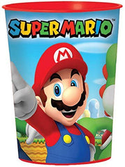 Super Mario Brothers Plastic 16oz Favor Cups (Pack of 12)