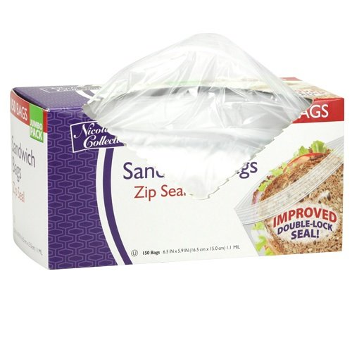 Nicole Home Collection 150 Count Zip Seal Sandwich Bags