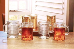 Canned Clear Mug Set 4 17 Oz With Handle