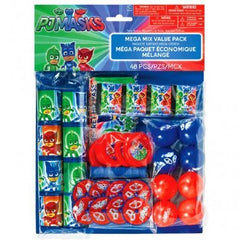 PJ Masks Mega Mix Value Pack Party Favor Set, 48pcs
