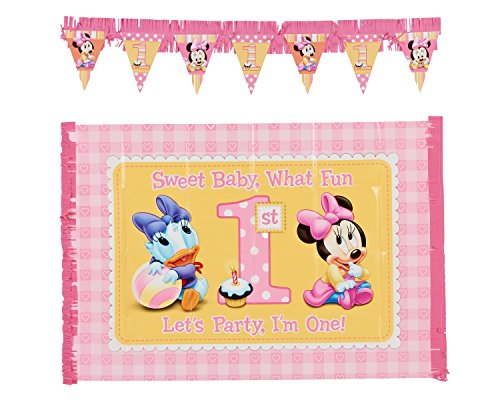 2-Piece Minnie's 1st Birthday High Chair Decoration Kit