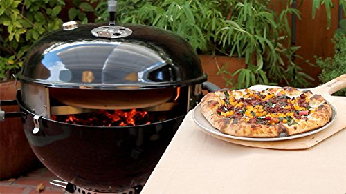 "PizzaQue Deluxe 18"" and 22.5"" PC7001 Kettle Grill Pizza Kit, Silver"