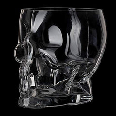Circleware Clear Glass Skull Shaped Ice Bucket